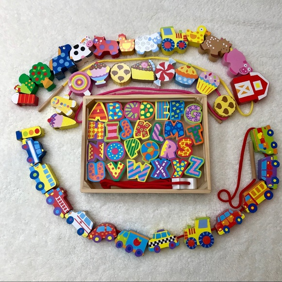 Melissa Doug Stringing Beads Sets